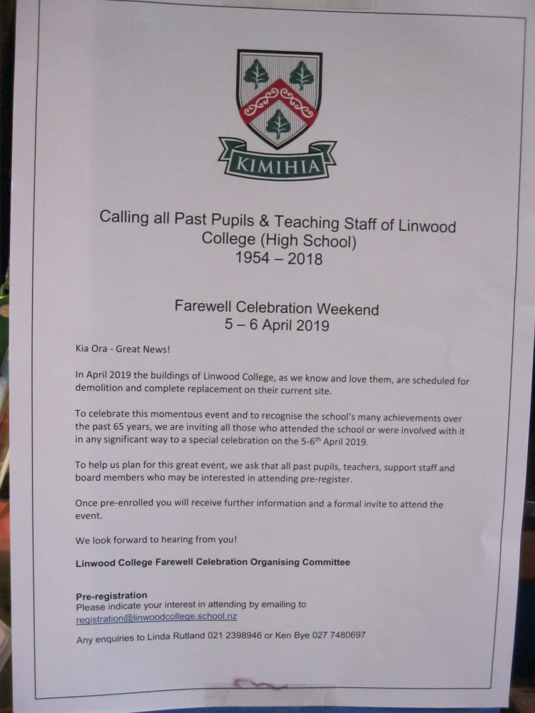 linwood College Farewell